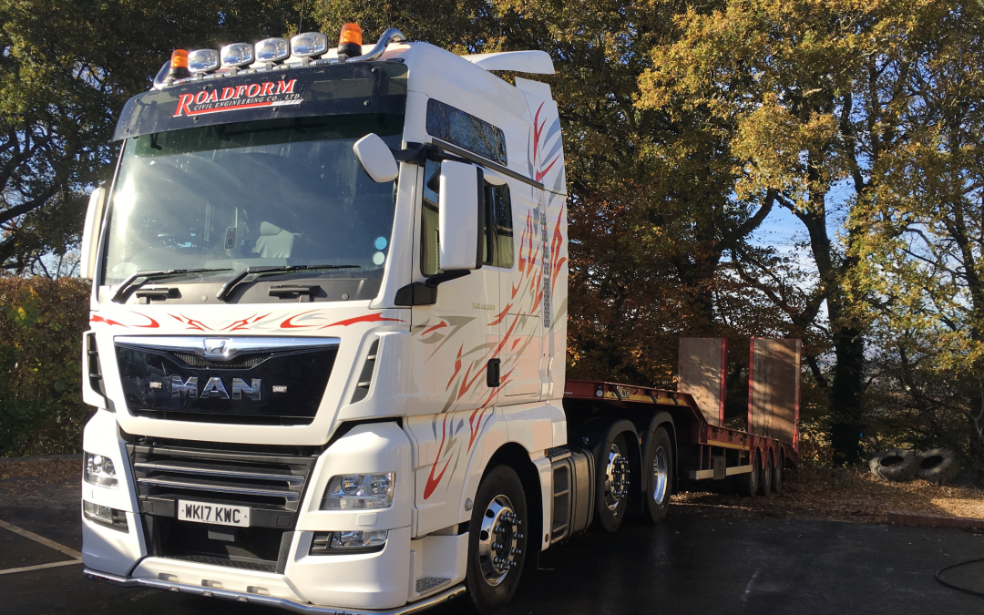 New MAN low loader truck on the road for Roadform
