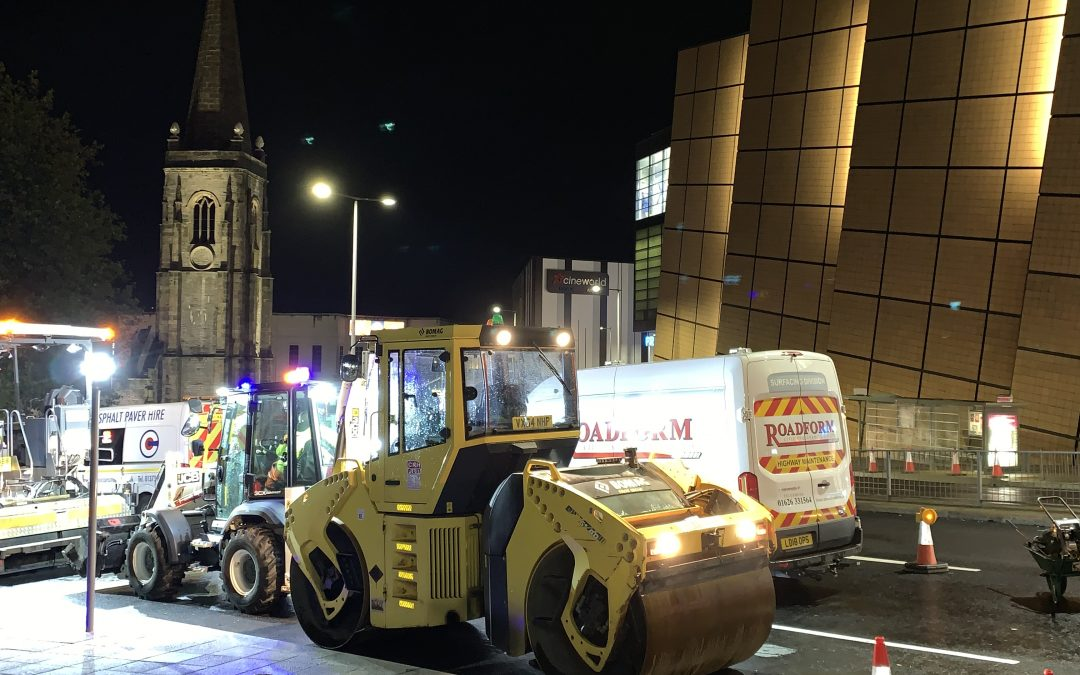 Roadform working with Balfour Beatty at Charles Cross Plymouth